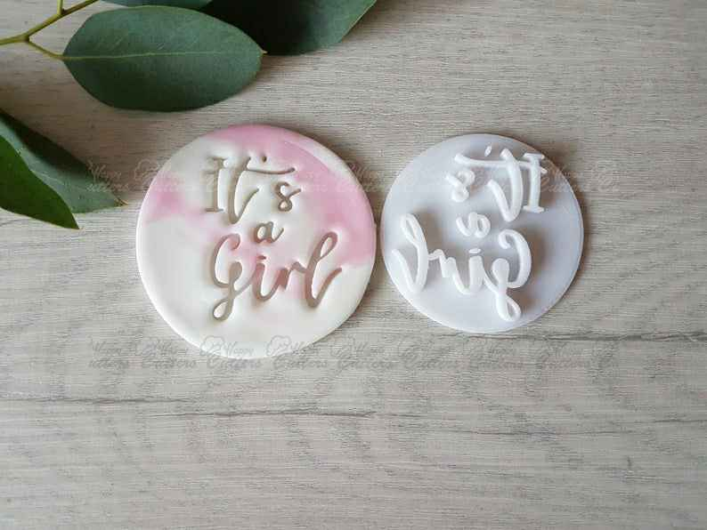 Stamp Outbosser Embosser Mother and Her Baby Stamp Melting Cookies Embosser Cookies Acrylic Stamp for Sugar Paste Cupcakes Stamp