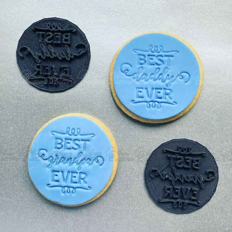 Best Grandpa Stamp Icing Baking Cookie Stamp Father/'s Day Gift Birthday Husband Partner Daddy Dad